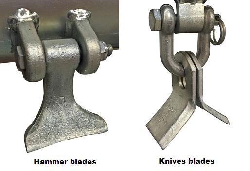 Flail Hammer Blades or Knives Blades for Flail Movers?