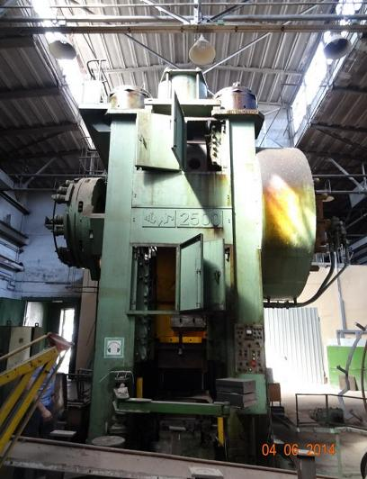 hot die forging press 2500t