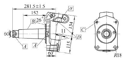 Influence of automotive steering knuckle forging processes