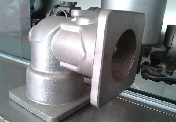cast steel valve component