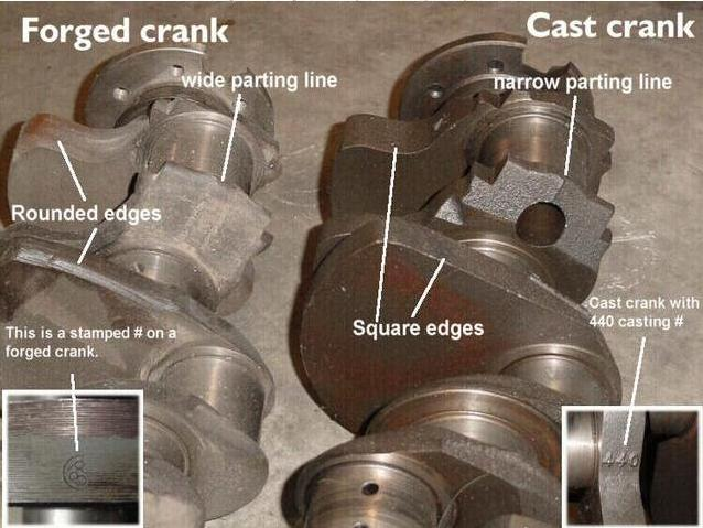 cast vs forged crankshaft